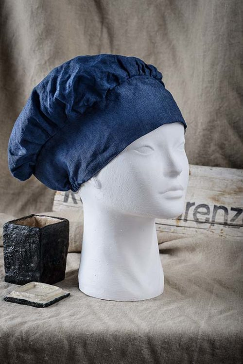 Cappello chef blu 1