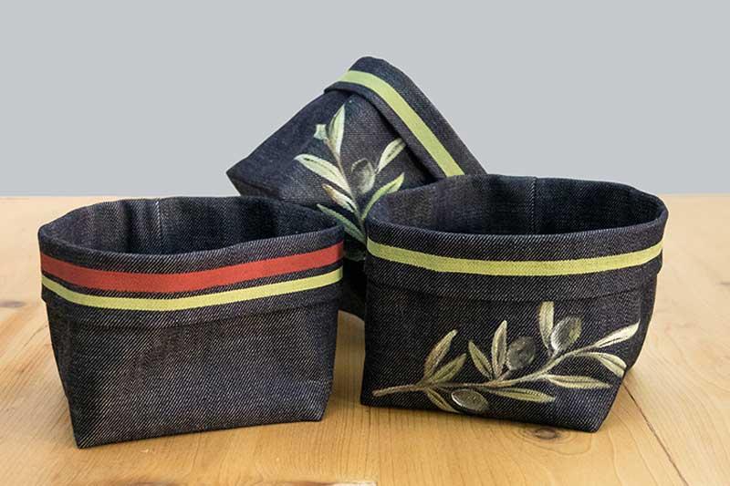 Cestini-pane-jeans-righe-olivo
