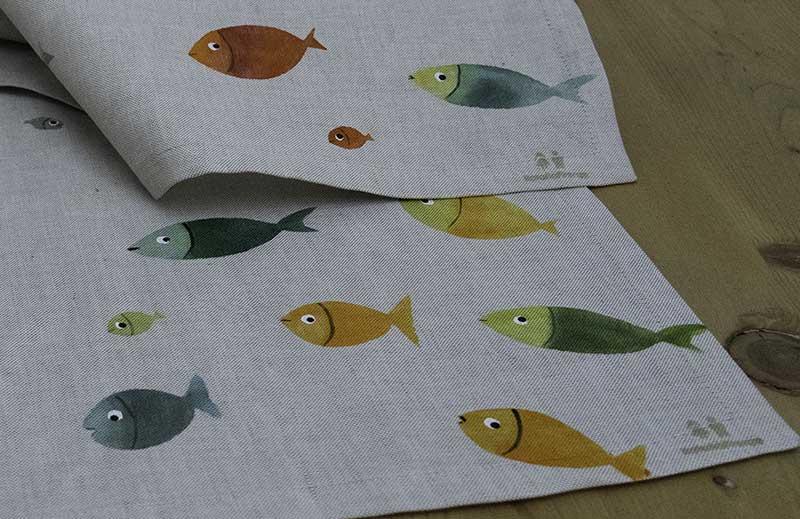 Cestini+tovagliette-pesci