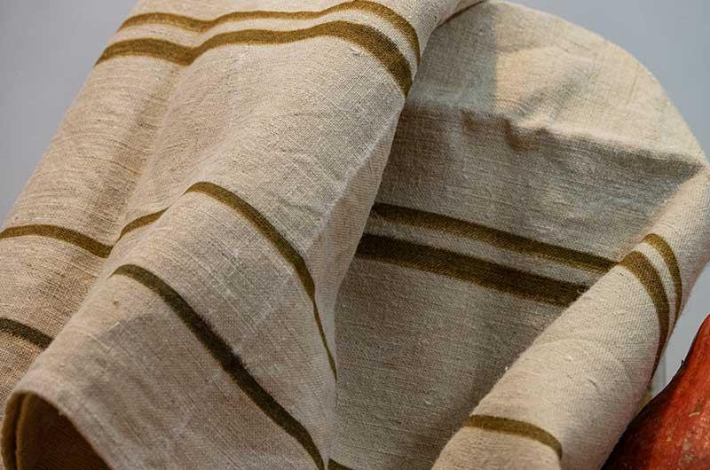Dishcloth-linen-brown stripes-D