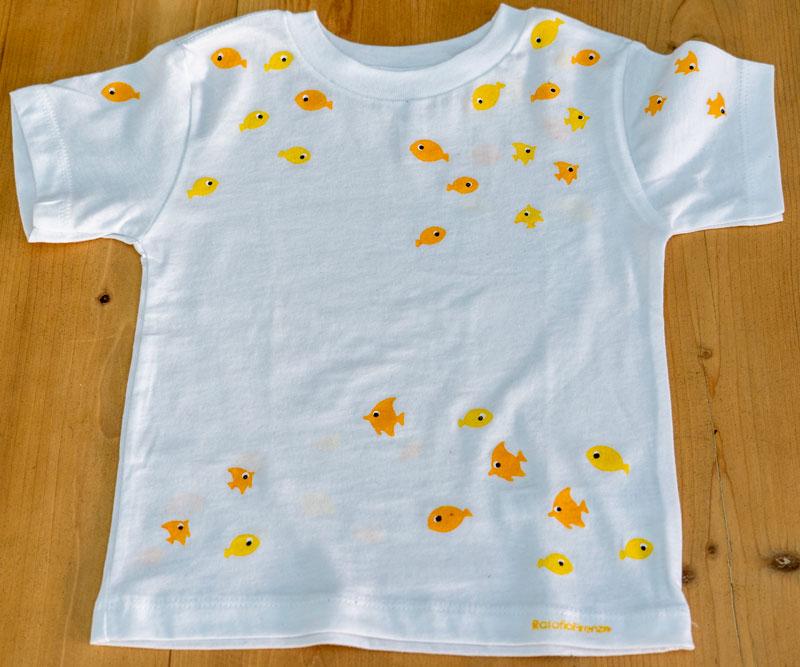 T-shirt-child-fish-yellow-R